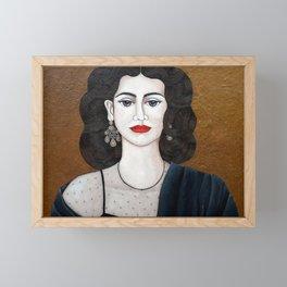 Amalia Rodrigues, the voice of the fado Framed Mini Art Print