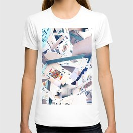 Flying playing cards T-shirt