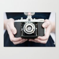 vintage camera Canvas Prints featuring Vintage Camera by Kurt Rahn