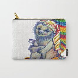Sloth in a Sock Carry-All Pouch
