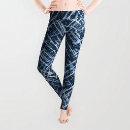 Criss Cross Watercolor Stripes Leggings