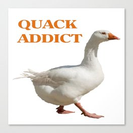 Strolling Duck Quack Addict Canvas Print