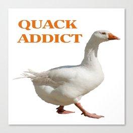 Strolling Duck Quack Addict Canvas Print