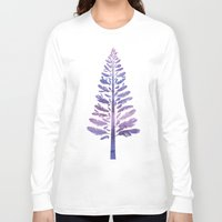 arya Long Sleeve T-shirts featuring Feather Tree by Hinal Arya