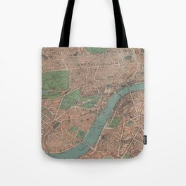 Vintage Pictorial Map of London England (1910) Tote Bag