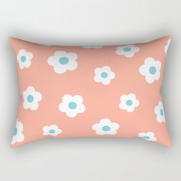 Coral Daisies Rectangular Pillow