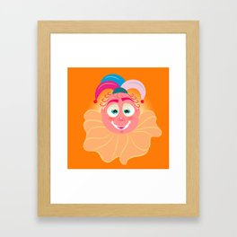 Lolo AlfsToys head Framed Art Print