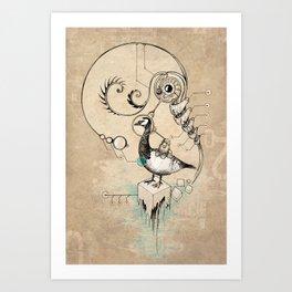 TimeLoopParadox // (metaphysical goose) Art Print