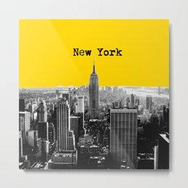 New York Poster Metal Print