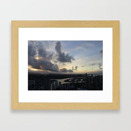 Golden sunsets Framed Art Print