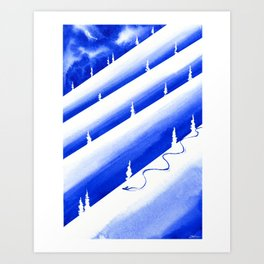 Thinking About Snow Art Print