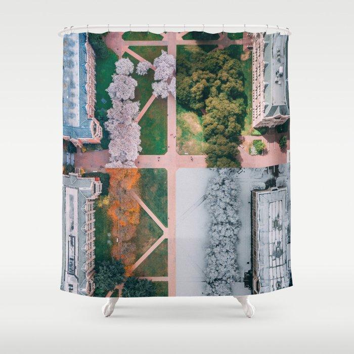 UW Cherry Blossoms: 4 Seasons Shower Curtain