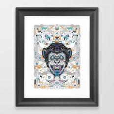 electro monkey Framed Art Print