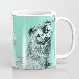 Mink in Bleu (pattern) Coffee Mug