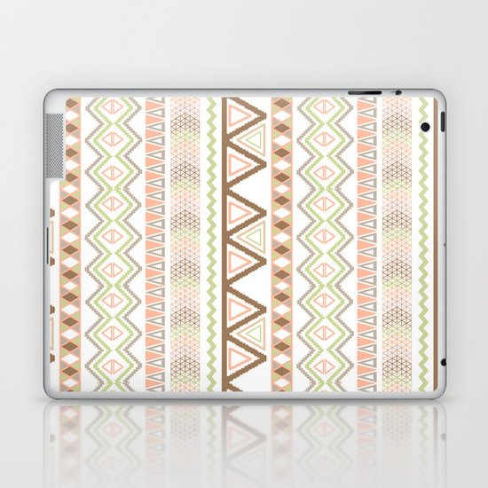 Aztec Andes Pattern Pink Brown Abstract Geometric Laptop & iPad Skin