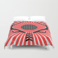 antlers Duvet Covers featuring Antlers by Dr. Aegon