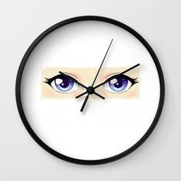 Japanese Manga Anime Gift Print Anime Eyes Print Wall Clock