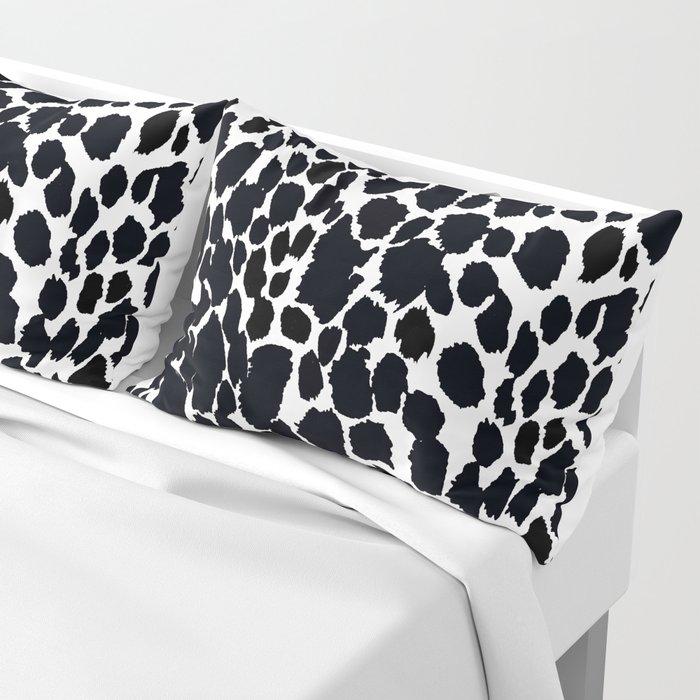 Animal Print Cheetah Black and White Pattern #4 2019 Pillow Sham