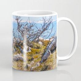 Top mountain scenics view on Alps chain in summer Coffee Mug