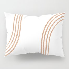 Mid Century Modern 1 - Geometrical Abstract - Minimal Print - Terracotta Abstract - Burnt Sienna Pillow Sham