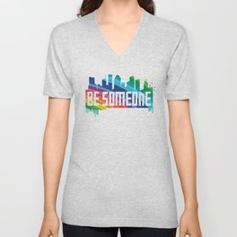 Be Someone - HTX - Rainbow Unisex V-Neck