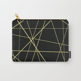 Golden lines on black Carry-All Pouch