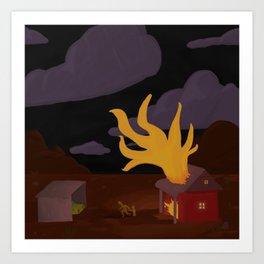 Night Fire Art Print