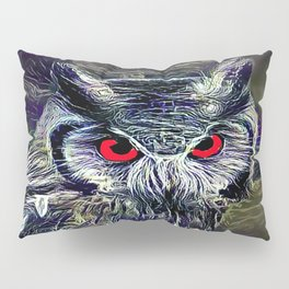 The Great Horned Owl Pillow Sham