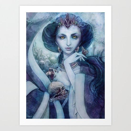 Queen of the dead Art Print