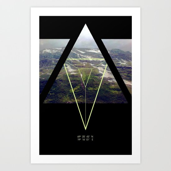 up that hill. Art Print