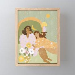 Violet Lamp Framed Mini Art Print
