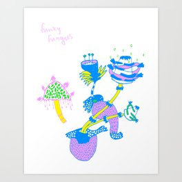 Funky Fungus Art Print