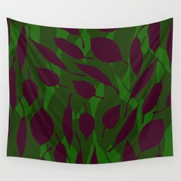 Jungle leaf Green Wall Tapestry