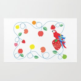 Kitchen scarlet macaw Rug