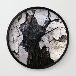 bark abstact no1 Wall Clock
