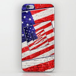 Patriotic American Flag Abstract iPhone Skin