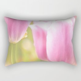 Spring is here with wonderful  colors - close-up of tulips flowers Rectangular Pillow