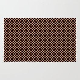 Black and Copper Tan Polka Dots Rug