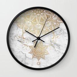 Mandala - Golden drop Wall Clock