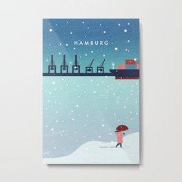 Hamburg winter Metal Print