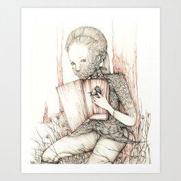 Drawings from personal  series Art Print