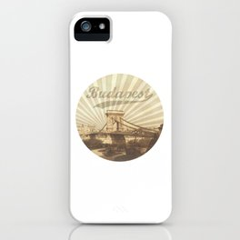 Budapest, vintage iPhone Case