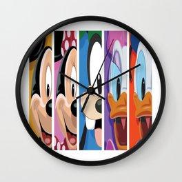 Mickey, Minnie, Goofy, Daisy And Donald Wall Clock