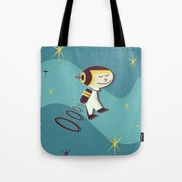 Have fun in space vintage cartoon Tote Bag