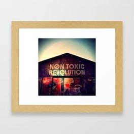 Toxic Lips Framed Art Print