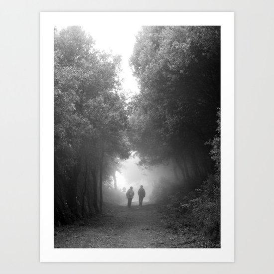 Hacia la niebla Art Print