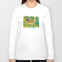 jungle Long Sleeve T-shirts featuring Jungle by Milanesa