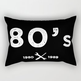 Born in the 80's. Certified Awesome Rectangular Pillow