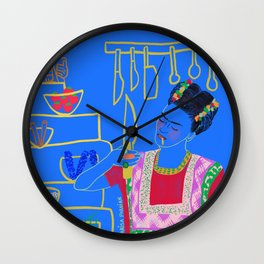 FRIDA KAHLO AND HER KNIFE Wall Clock