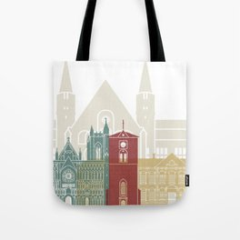 Trondheim skyline poster Tote Bag